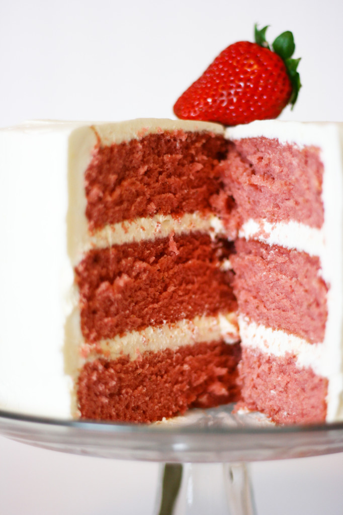 Strawberry Flavoured Sponge Cake